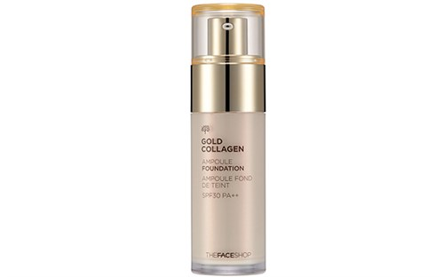 Kem nền Gold Collagen Ampoule Foundation The FaceShop 40ml của Hàn Quốc
