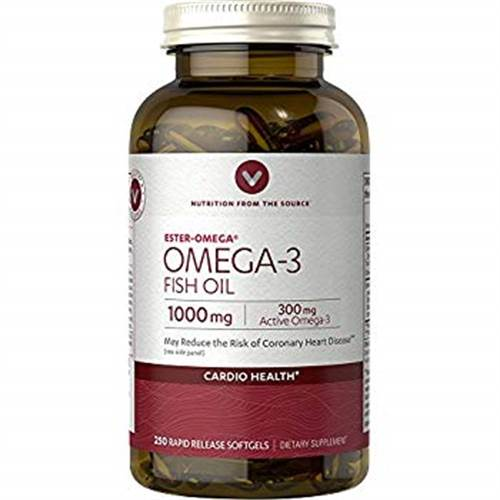 Dầu cá Fish oil omega 3 1000mg Vitamin World 250 viên