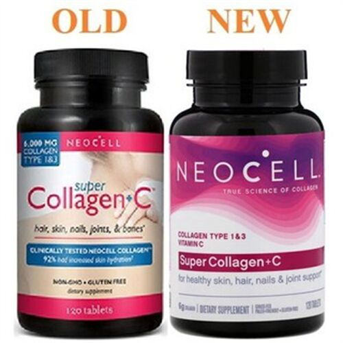 Collagen type 1&3 -Super Collagen + C NEOCELL USA 120 viên