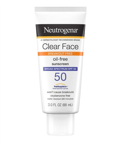 Kem chống nắng Neutrogena Clear Face Break-Out Free Oil Free Sunscreen SPF 50 88ml của Mỹ