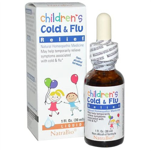 Siro Children Cold & Flu Relief Natrabio của Mỹ 30ml