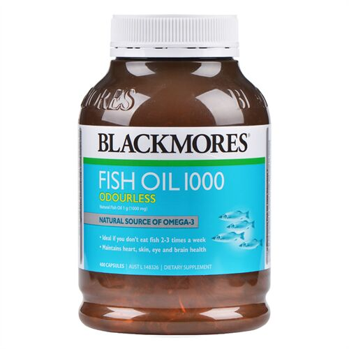 Fish Oil 1000 BlackMores Natural Source Of Omega 3 Úc 400 viên