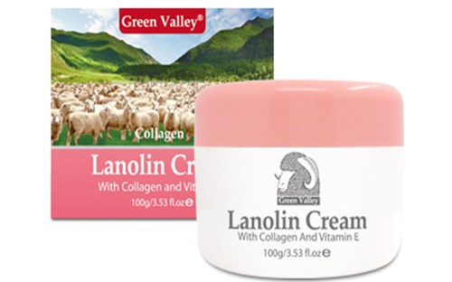 Kem dưỡng da mỡ cừu Úc Lanolin Cream With Collagen And Vitamin E Green Valley