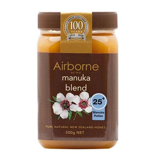 Mật ong New Zealand Airborne Manuka Blend 25+ 500g